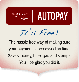 Sign up for autopay