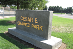 Cesar Chavez Park Sign
