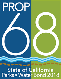 Prop 68 logo blue with green and white lettering