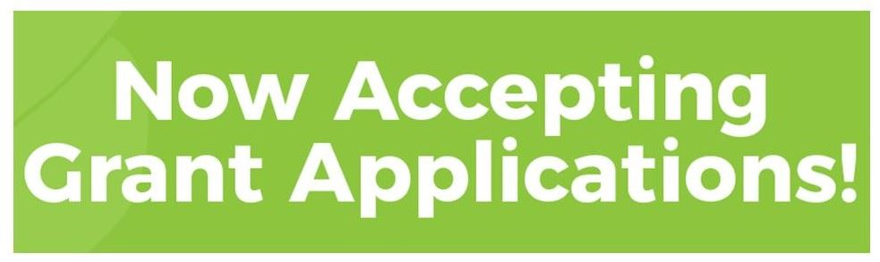 Now Accepting Grant Applications logo